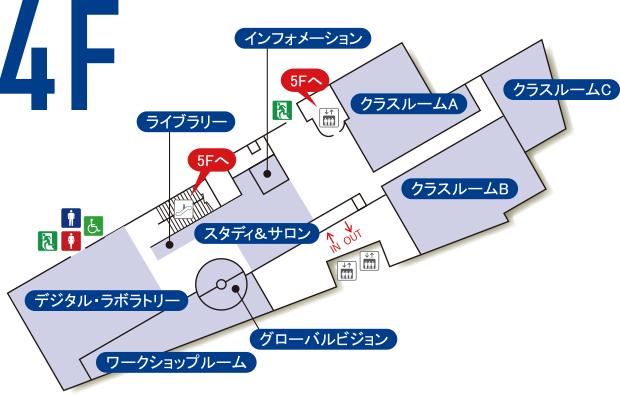 4階のマップ